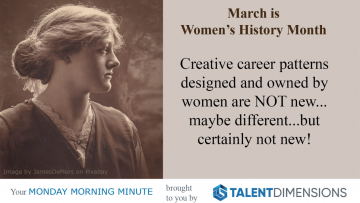 Monday Morning Minute – Women's History Month: Careers